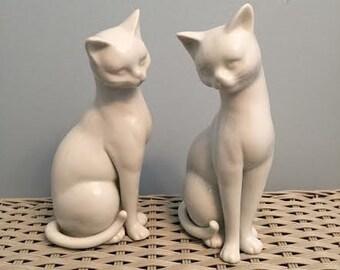 Otagiri White Porcelain Cats #470