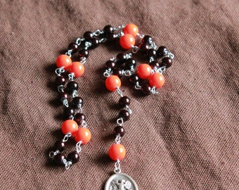 St. Michael Chaplet - Orange Brownie