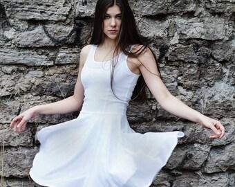 White Polka Dot Lace Dress