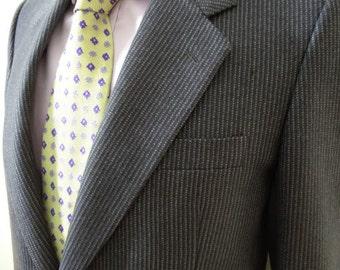 Rare vintage Egon von Furstenberg grey suit made from 100% virgin wool