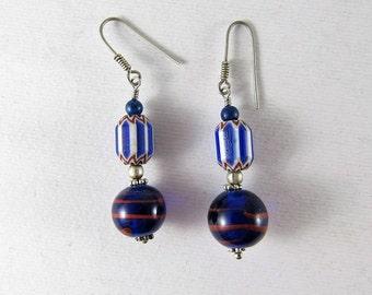 Antique Murano beads earrings