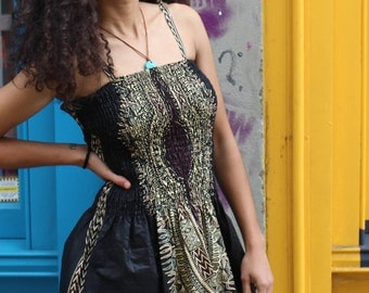 African Dress - Fatou Dress - Summer dress - African Wax Print - Ankara - Festival Clothing - Dashiki dress