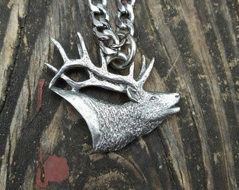 Bull Elk Pendant Necklace