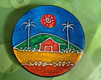Tatiana Bodden ~ Formato ~ Red Clay Art Pottery ~ Wall Decor ~ Signed/Stamped Pottery ~ Mid Century Modern