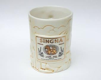 Singha Beer Stein Porcelain Thailand