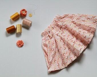 Girls skirt, twirly skirt, size 3 circle skirt, toddler skirt, girls swing skirt, drop waist skirt, built in shorts, skort