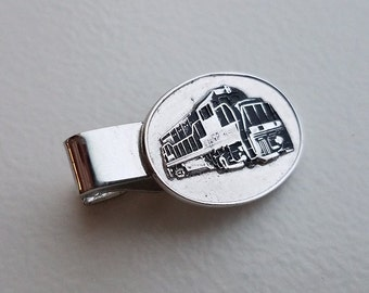 Locomotive Tie Clip by Robbins Attleboro