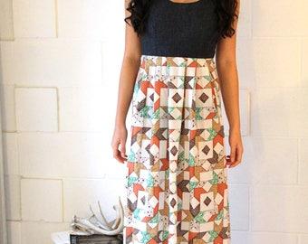 Handmade Maxi Dress w/Vintage Textiles