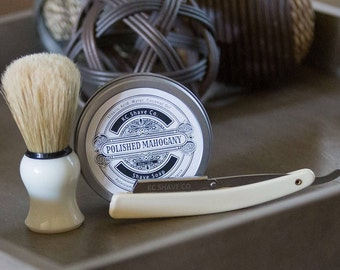 Personalized Groomsmen Shave Kit. Father's Day Gift. Groomsmen Gifts. Groomsmen Gift. The Adam Straight Razor Kit. Shaving Kit. Groomsman.