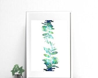 Turquoise Printable Wall art, watercolor download, download print, blue and green art turquoise abstract print watercolor printable abstract