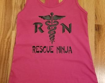 RN Rescue Ninja Racerback Tank Top