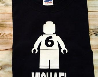 Lego Birthday Shirt, Lego Shirt, Lego Birthday, Lego Party, Lego Theme, Personalized Lego Shirt, Personalized Birthday Shirt