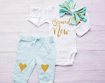 Newborn Gift,  Newborn coming home, Hospital Outfit, girl coming home outfit, Baby Shower Gift, baby girl coming home