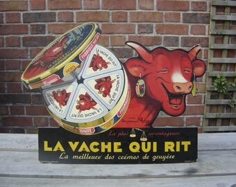 La vache qui rit. Vieille Publicité. PLV. Old pub. Collection. Benjamin Rabier. France