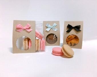 10 Kraft ribbon gift packaging sets,cookie gift,macaron packaging,cookie packaging,candy packaging,cute gift,Kraft gift,cookie bags,gifts