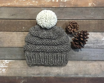 Ready-to-ship WEBBER beanie/Adult hat/ Knit hat/ Winter hat/ Fall hat/ Knit beanie/ Womens hat