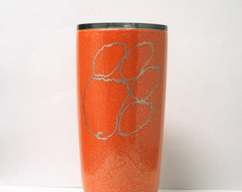 Clemson tigers, Clemson yeti, ozark trail, yeti, yeti tumbler, powder coated, powder coated yeti, powder coated ozark, custom yeti, tumbler