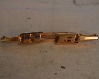 Gold Tone HB Anson Tie Clip