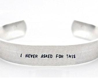 bracelet- gamer bracelet- meme bracelet- i never asked for this- geek bracelet