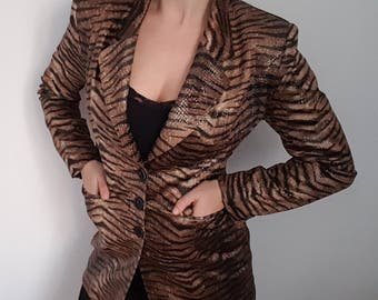 Wild Thing, you make my heart sing: 1980s Tiger Blazer