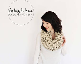 CROCHET PATTERN & TUTORIAL / Caulfield Infinity Scarf / Chunky Crochet Ribbed Infinity Circle Scarf / Toddler, Child, Adult Sizes