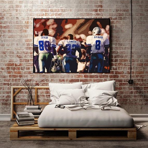 Dallas Cowboys Football Canvas Wall Art: Dallas Cowboys Art Dallas Cowboys Wall Decor By