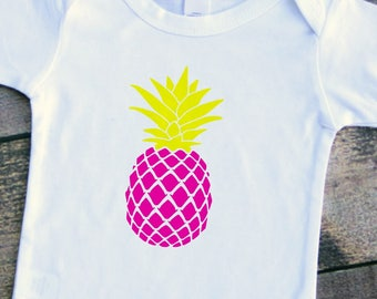 Pineapple baby girl boy bodysuit toddler tshirt