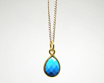 Cute gemstone charm necklace