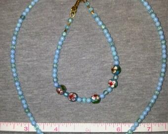 Handmade Beaded Jewelry - Necklace and Bracelet