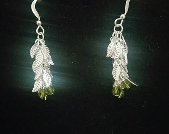 0197-Leaf Drop Earrings