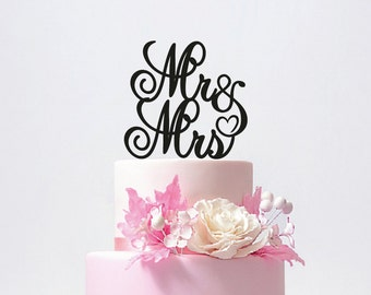 Personalized Mr and Mrs Wedding Cake Topper with YOUR Last Name / ST010