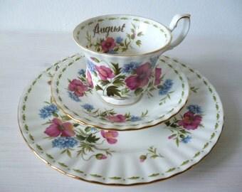 Royal Albert bone China porcelain flowers of the month