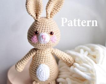 PATTERN, Easter Bunny amigurumi pattern, kawaii bunny, crochet bunny pattern, pdf amigurumi doll, rabbit patern, easy amigurumi pattern