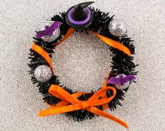 Bewitching Halloween Wreath - 1:12 Dollhouse Miniature