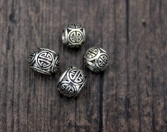 8MM 10MM Sterling Silver Beads,Sterling Silver Spacer Bead,Silver beads spacer, Large hole silver beads
