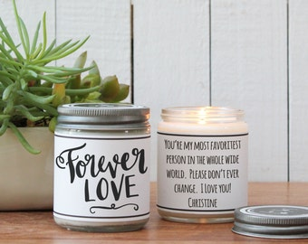 I love you gifts etsy forever love soy candle gift i love you gift thinking of you gift negle Gallery