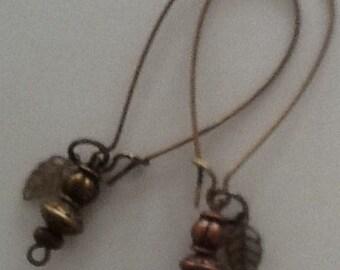 Bronze hoop earrings
