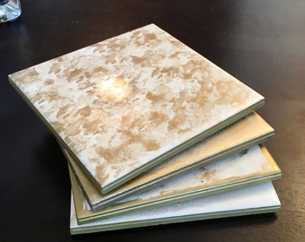 Gold - Assorted Tile Coasters (set of four)