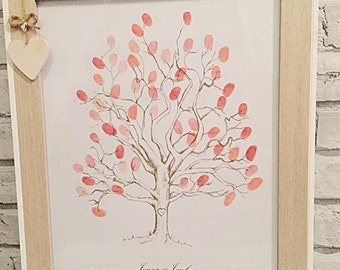 Wedding Fingerprint Tree, personalised finger print tree Guestbook.