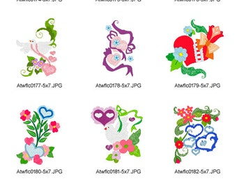 Valentine-5x7 ( 11 Machine Embroidery Designs from ATW )