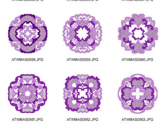 Elegant-Circles ( 10 Machine Embroidery Designs from ATW )