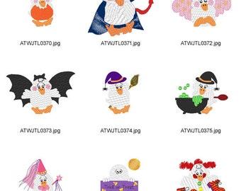 Duckies-Halloween ( 9 Machine Embroidery Designs from ATW ) XYZ17B