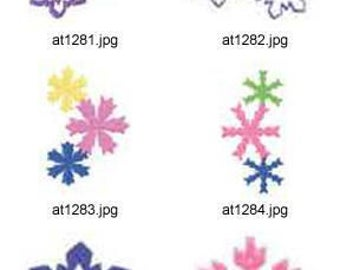 Snowflakes-1 ( 10 Machine Embroidery Designs from ATW ). XYZ17C