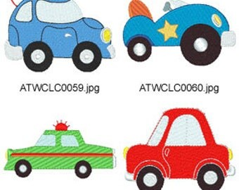 Cars ( 11 Machine Embroidery Designs from ATW ). XYZ17D