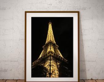 "Eiffel Tower, Paris Photography, Large Wall Art Print, Paris Decor, Fine Art Photography, 20 cm x 30 cm, 8"" x 12"""