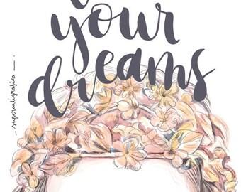 Coure dreams Postcard print