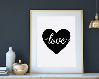 Love Quote Printable / Love Quote Print | Love Art | Love Print | Home Wall Decor | Printable Wall Art | Heart Printable | Love Heart Poster