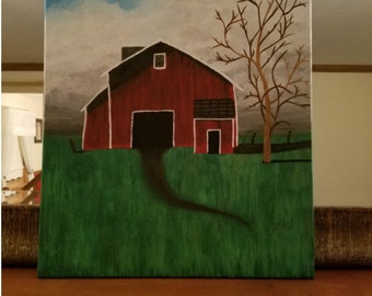 farm painting barn painting country landscape red barn rustic western painting farm acrylic canvas painting farm barn country farm barn art