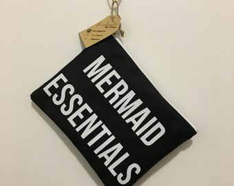 Black Mermaid Essentials Makeup Bag/ Cosmetic Bag/ Toiletry Bag