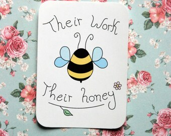 Bee friend sticker